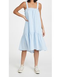 Moon River Plaid Dress - Blue