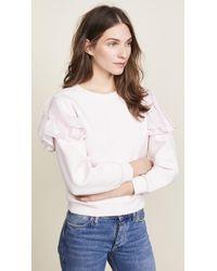 Rebecca Taylor | Ruffle Sweatshirt | Lyst