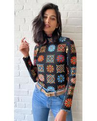 La DoubleJ Skinny Jersey Layering Turtleneck - Multicolour