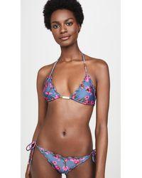 ViX Fiore Ripple Triangle Bikini Top - Multicolor