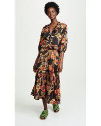 Warm - Long Sleeve Tiered Dress - Lyst