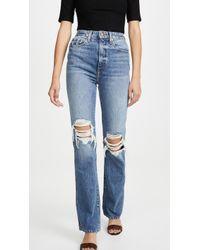 Khaite Danielle High Rise Stovepipe Jeans - Blue