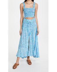 Tiare Hawaii Angelina Top And Dakota Skirt Set - Blue
