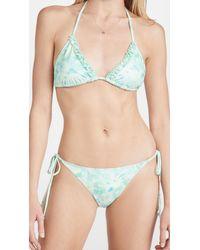 LoveShackFancy Harbor Bikini Set - Blue