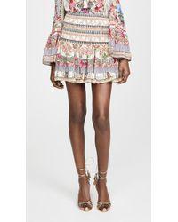 Camilla Montmartre Heart Short Shirred Skirt - Multicolor