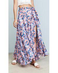 Tiare Hawaii Azure Wrap Skirt - Blue