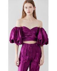 Aje. Gracious Off Shoulder Top - Purple
