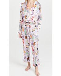 Karen Mabon Cat Show Long Pyjama Set - Purple