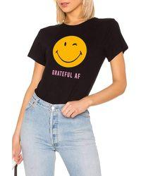 SHOP MĒKO Grateful Smiley Tee - Black