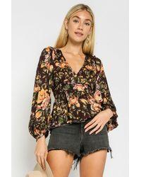 SHOP MĒKO Vintage Rose Blouse - Multicolor