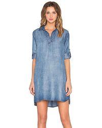 Bella Dahl A-line Shirt Dress - Blue