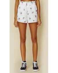 For Love & Lemons Tarte Eyelet Shorts - White