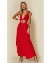 Blue Life Henna Dress - Red
