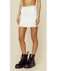 For Love & Lemons Britney Ruffle Mini Skirt - White