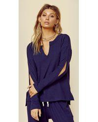 LNA Brushed Sage Sweater - Blue