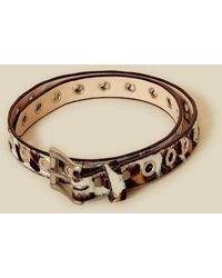 Brave Leather Dai Leopard Print Leather Belt - Brown
