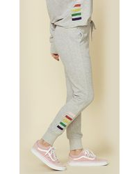 Sundry Tapered Sweatpants W/ Inset Side Stripes - Gray