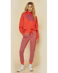 Sundry Abstract Dots Sweatpant - Red