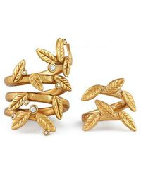 Rachel Zoe - Skyler Leaf Ring Set - Lyst