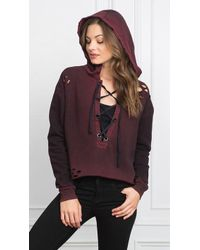 Tyler Jacobs - Cobi Lace Up Hoodie - Lyst