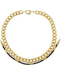 Fallon - Labyrinth Gold Necklace - Lyst