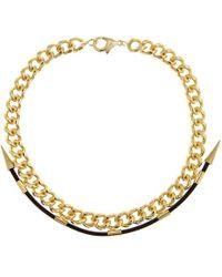 Fallon - Labyrinth Gold Necklace - Lyst