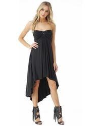 1099f63ab0 Lyst - Sky Renne High Low Dress in Black