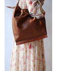 Étoile Isabel Marant Studded Leather Bag In Cognac - Brown
