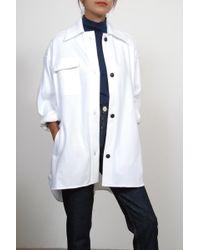 Creatures of Comfort - Work Jacket In White - Lyst