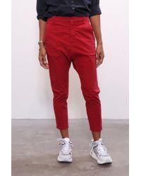 8829c6a4c6 Nili Lotan - Paris Pant In Sunkissed Red - Lyst