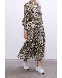 No. 6 - Roman Dress In Coffee Cream Zebra - Lyst