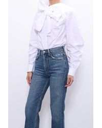 Ganni Cotton Poplin Shirt - White