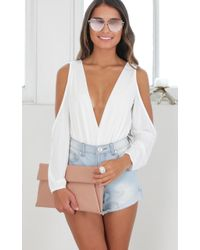 Showpo - Boy Meets Girl Bodysuit In White - Lyst
