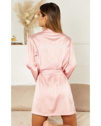 Showpo Ellena Bridesmaid Robe - Pink