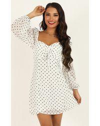 Showpo Sprinkles Dress - White