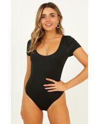Showpo - Here She Is Bodysuit In Black - Lyst