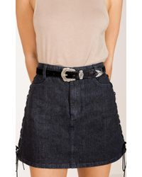 Showpo - With The Wild Belt In Black And Silver - Lyst