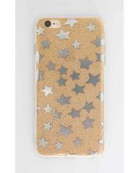 Showpo Estela Iphone Cover In Gold Glitter - 6 Plus - Metallic