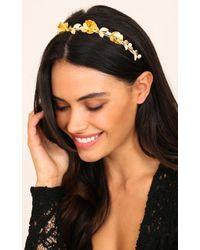 Showpo | Dont Change Headband In Gold | Lyst
