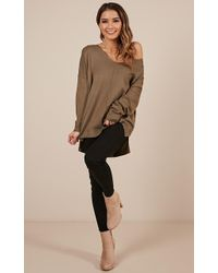 Showpo - Why Cant You Knit Top - Lyst