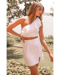 Showpo Get Your Groove On Two Piece Set - White