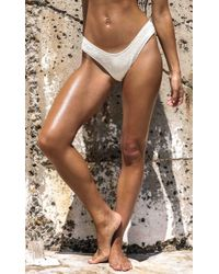 bd4d743d48 Lyst - Showpo Low Down Bikini Bottom In Milk in Natural