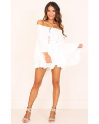 Showpo - Montana Playsuit In White - Lyst