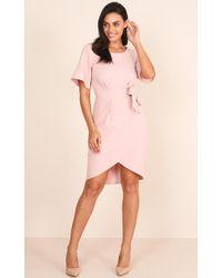 Showpo   Benchmark Dress In Blush   Lyst
