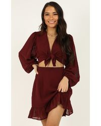 Showpo Admire The Game Two Piece Set - Red