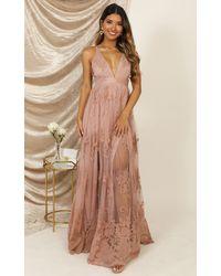 Showpo Promenade Maxi Dress - Pink