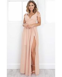Showpo | Stand Close Dress In Blush | Lyst