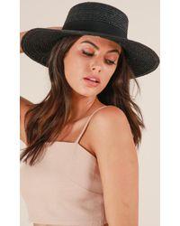 Showpo - When You Know Hat In Black - Lyst