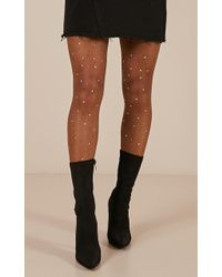 Showpo Bling Thing Stockings In Nude - Natural