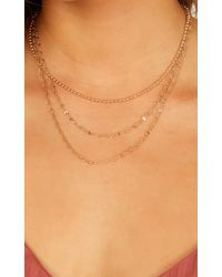 Showpo - Lucky Strike Necklace - Lyst